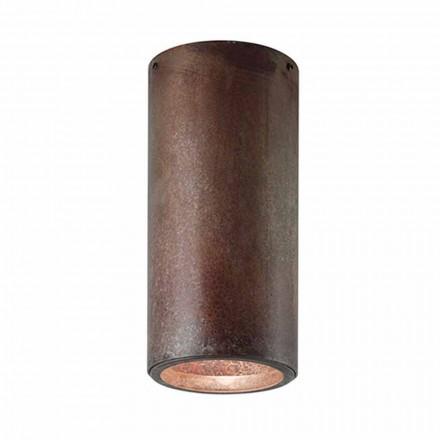 Plafoniera industriale in ottone o ferro Girasoli Il Fanale