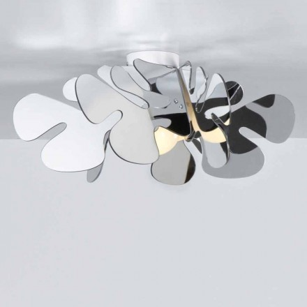 Plafoniera metacrilatocromolite design moderno,L.53xP.53 cm, Debora