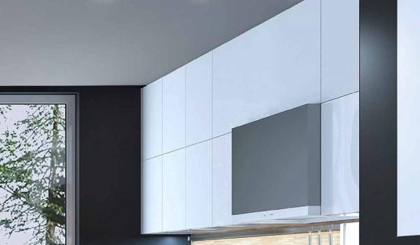 Plafoniera quadrata moderna design in gesso o cemento nadir