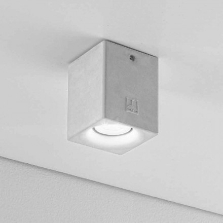 Plafoniera quadrata per esterno in gesso o cemento Nadir 3