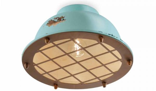 Plafoniere Ottone Stile Nautico : Plafoniera stile nautico in ceramica con griglia mary ferroluce