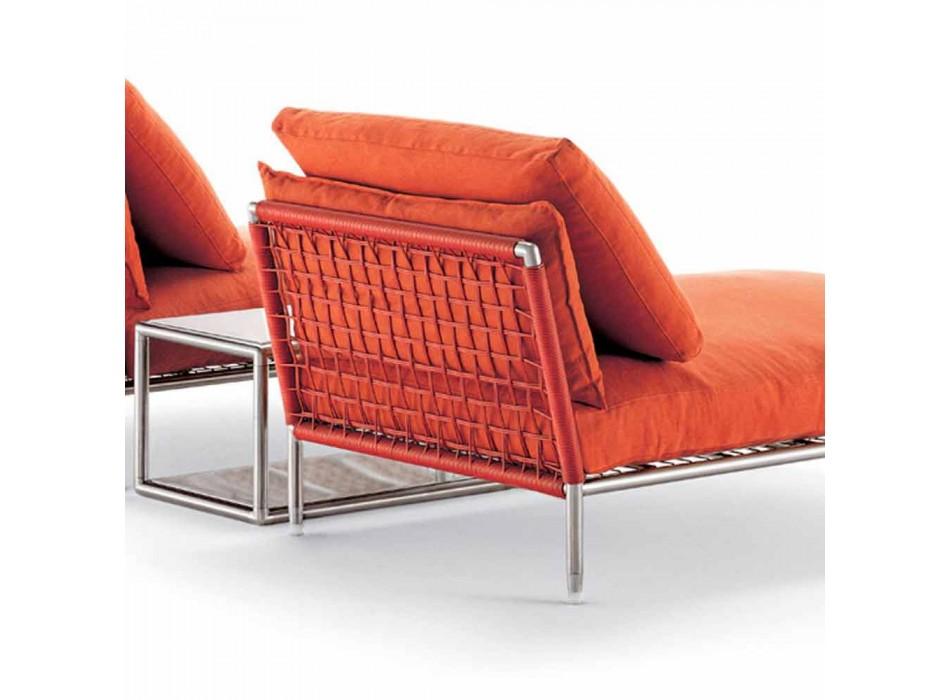 Poltrona Chaise Longue di Design Moderno per Giardino Made in Italy - Ontario1