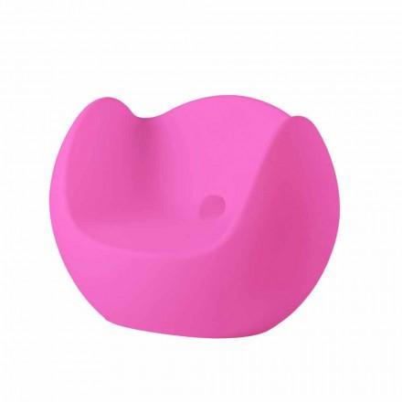 Poltroncina a dondolo luminosa Slide Blos, design moderno