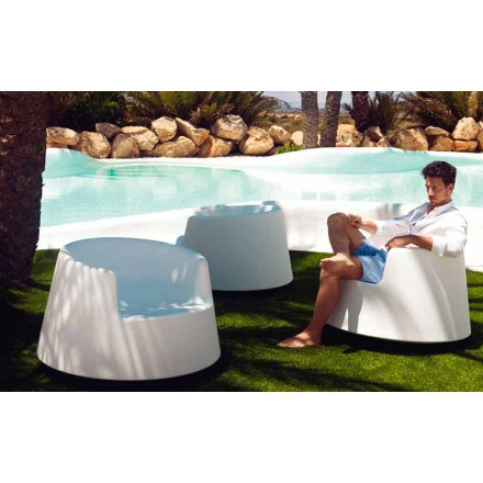 Poltrona da giardino design moderno Roulette Vondom in polietilene