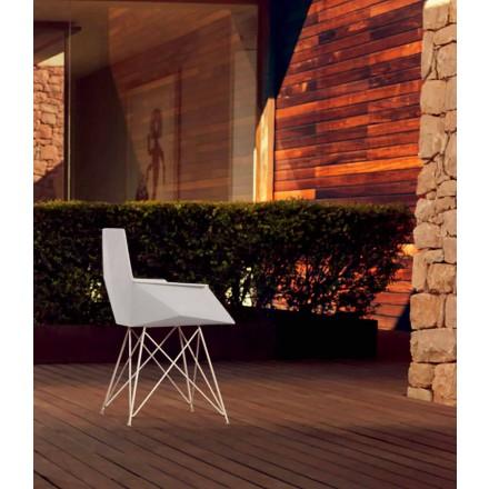 Poltrona da giardino di design Faz Vondom,polipropilene e acciaio inox