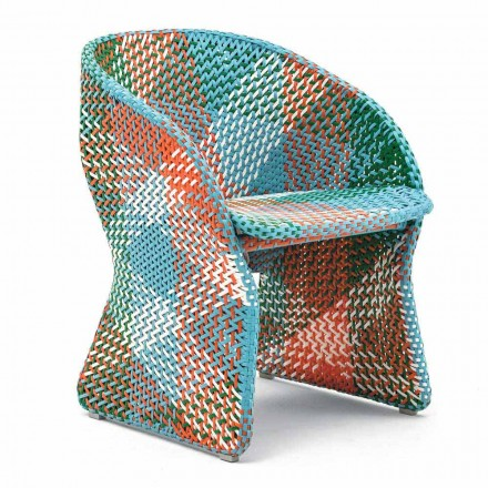 Poltrona da Giardino in Fibra Sintetica Colorata Intrecciata – Maat by Varaschin