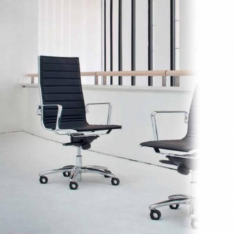Poltrone Da Ufficio In Pelle.Poltrona Da Ufficio Direzionale In Pelle O Tessuto Light Luxy