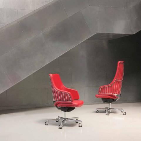 Poltrona da ufficio direzionale modello Italia by Luxy, made in Italy