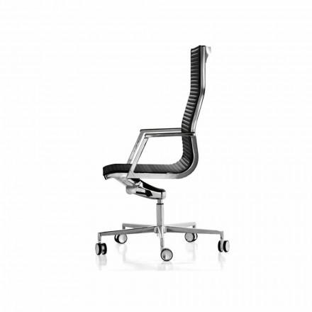 Poltrona da ufficio ergonomica in pelle o tessuto Nulite Luxy