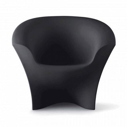 Poltrona Design da Esterno in Polietilene Opaco o Laccato Made in Italy - Conda