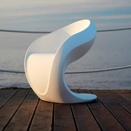 Poltrona di Design Interna o Esterna in Polietilene Bianco - Petra by Myyour