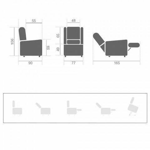 Poltrona Elettrica Alzapersona Relax Lift a 2 Motori di Lusso Moderna - Victoire