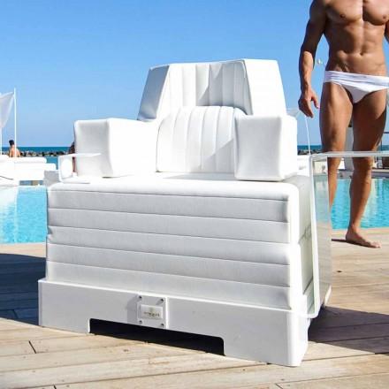 Poltrona galleggiante Trona Luxury bianca di design, made in Italy