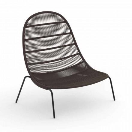 Poltrona Lounge da Giardino in Alluminio e Tessuto – Panama by Talenti