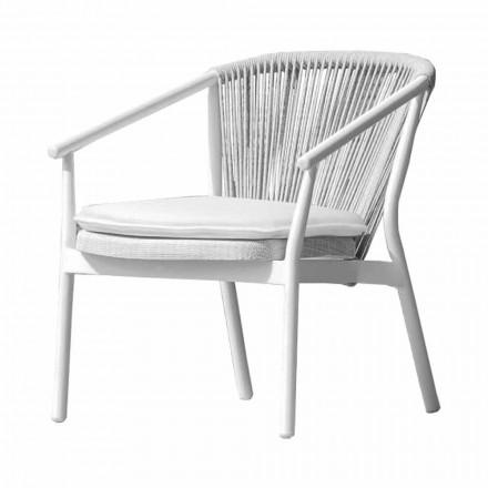 Poltrona Lounge da Giardino Tessuto Imbottito e Alluminio – Smart by Varaschin
