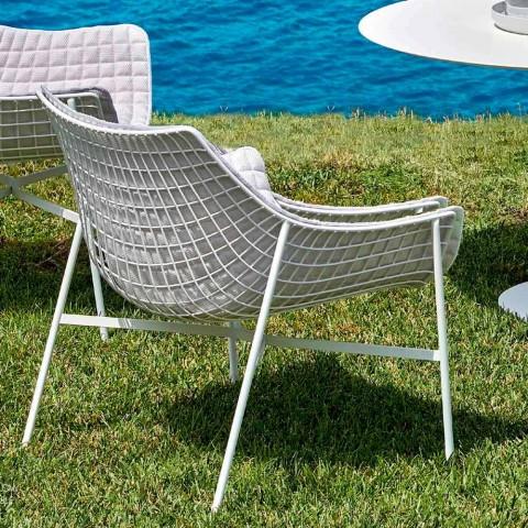 Poltrona lounge da giardino Varaschin Summer Set moderna in acciaio