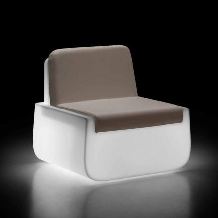 Poltrona Luminosa da Esterno in Polietilene con Cuscino Made in Italy - Belida
