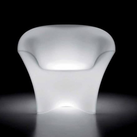 Poltrona Luminosa da Esterno in Polietilene con Luce LED Made in Italy - Conda