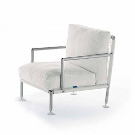 Poltrona Moderna di Design in Acciaio e PVC Nero o Bianco da Esterno - Ontario2