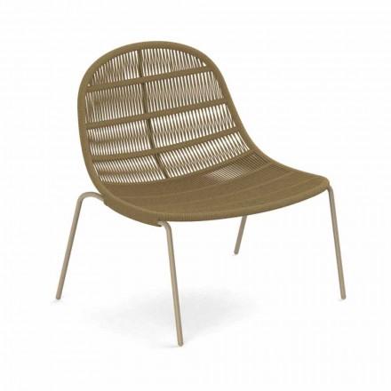 Poltrona per Esterno di Design in Alluminio e Tessuto – Panama by Talenti
