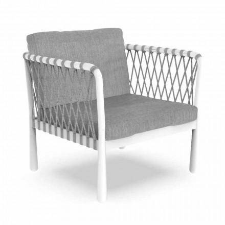 Poltrona per Esterno Moderna in Alluminio e Tessuto – Sofy by Talenti