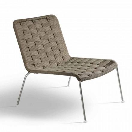 Poltrona per Giardino di Design Moderno in Corda Made in Italy - Madagascar3