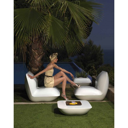 Poltrona per giardino in polietilene Pillow by Vondom, design moderno