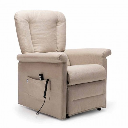 Poltrona Reclinabile Lift Relax a 2 Motori con Ruote Made in Italy - Isabelle