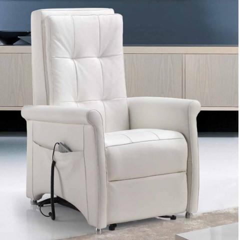 Poltrona relax alzapersona di design a 2 motori via roma - Poltrona relax design ...
