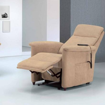 Poltrona relax alzapersona di design Via Firenze 2 motori