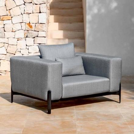 Poltrona Relax da Giardino Alluminio e Tessuto, Design in 3 Finiture - Filomena