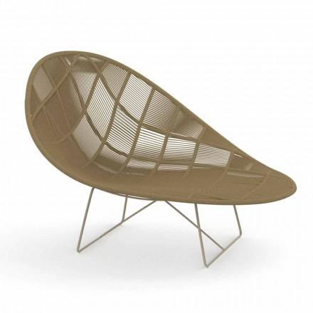 Poltrona Relax da Giardino Moderna in Alluminio e Tessuto – Panama by Talenti