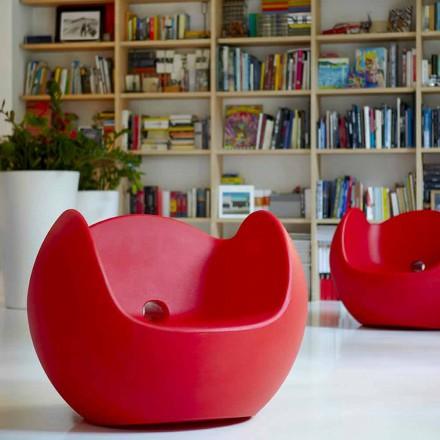 Poltrona a dondolo da giardino/interno di design Slide Blos,made Italy