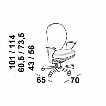 Poltrona ufficio direzionale di design Bea, scocca grigia