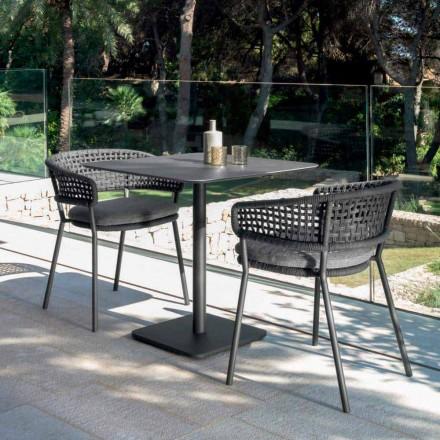 Poltroncina da giardino in allumino Moon Alu Talenti, design moderno