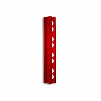Porta bottiglie da muro rosso Baby small L6xH60xP11cm, design moderno