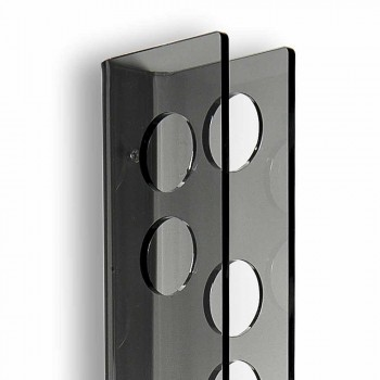Porta bottiglie da parete fumé Baby Big L6xH100xP11cm, design moderno
