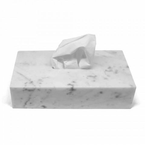 Porta Fazzoletti Moderno in Marmo Bianco di Carrara Made in Italy - Rafa