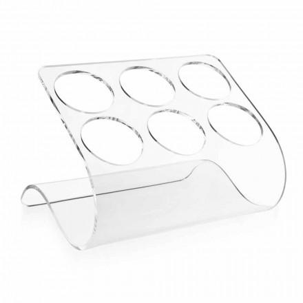 Portabottiglie da Appoggio per 6 Bottiglie in Plexiglass Trasparente - Tanatin