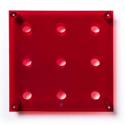 Portabottiglie da parete Amin Big L45xH45xP13,6cm rosso trasparente