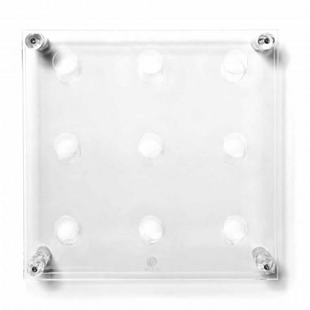 Portabottiglie da parete trasparente di design Amin Big L45xH45x13,6cm