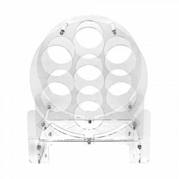Portabottiglie da Tavolo Design in Plexiglass Trasparente o con Legno - Vinello