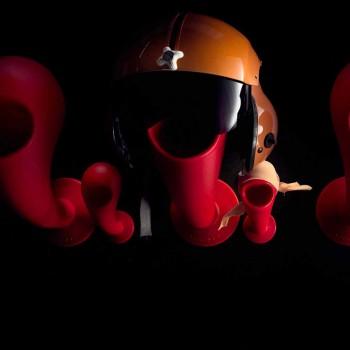 Portacasco o Appendiabiti da Parete Colorato, 6 Pezzi - Crazy Head by Myyour