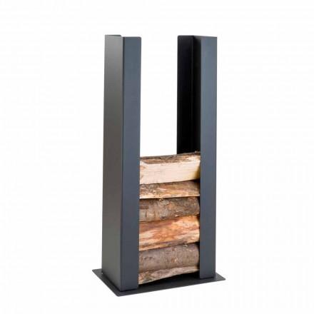 Portalegna da muro/terra per interno in acciaio, PLDU design moderno