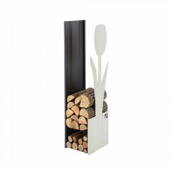 Portalegna per Camino Caf Design Made in Italy PLV F
