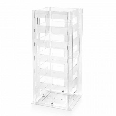 Portaombrelli di Design Geometrico Moderno in Plexiglass Trasparente - Beccaria