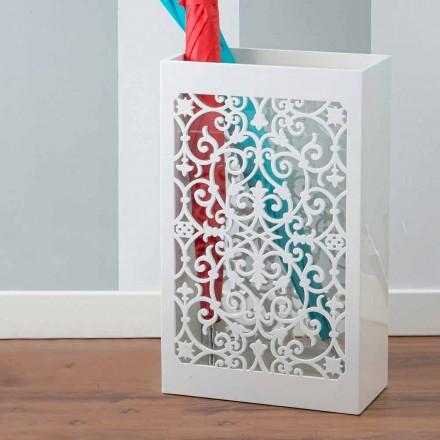 Portaombrelli in Legno Colorato dal Design Moderno con Decori Arabi - Dubai