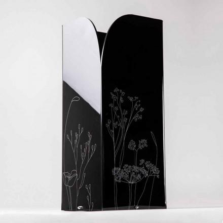 Portaombrelli Moderno in Plexiglass Nero o Trasparente con Incisione - Florinto