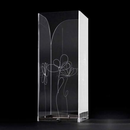 Portaombrelli Plastica Trasparente con Foglie Stilizzate Incise - Florino