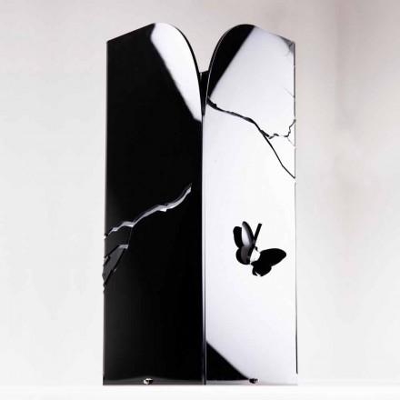 Portaombrelli Plexiglass Nero con Incisioni e Decori 3D, Design Moderno - Farfo